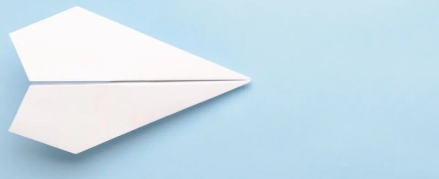 Paper airplane depicting movement to 401k