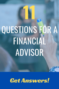 Woman raising hand, asking a financial advisor a question