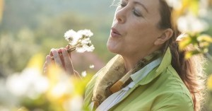 Woman outdoors suggesting leisure time