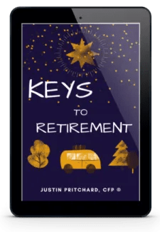 Cover of e-book on retirement planning shown in mobile device