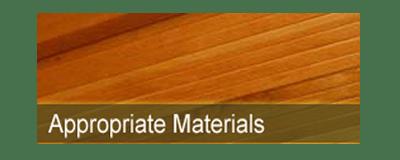 appropriate materials