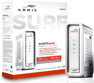 From the ARRIS SURFboard lineup comes the first DOCSIS 3.1 cable modem, the ARRIS SB8200. If you subscribe to Gigabit services from Cox or Comcast XFINITY, then this may be the modem you need.