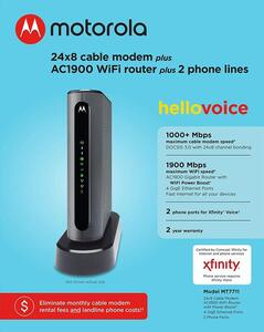 Motorola MT7711 XFINITY Voice WiFi Modem Review