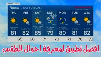 تنزيل برنامج Weather forecast لمعرفة حالة الطقس بدقة عالية