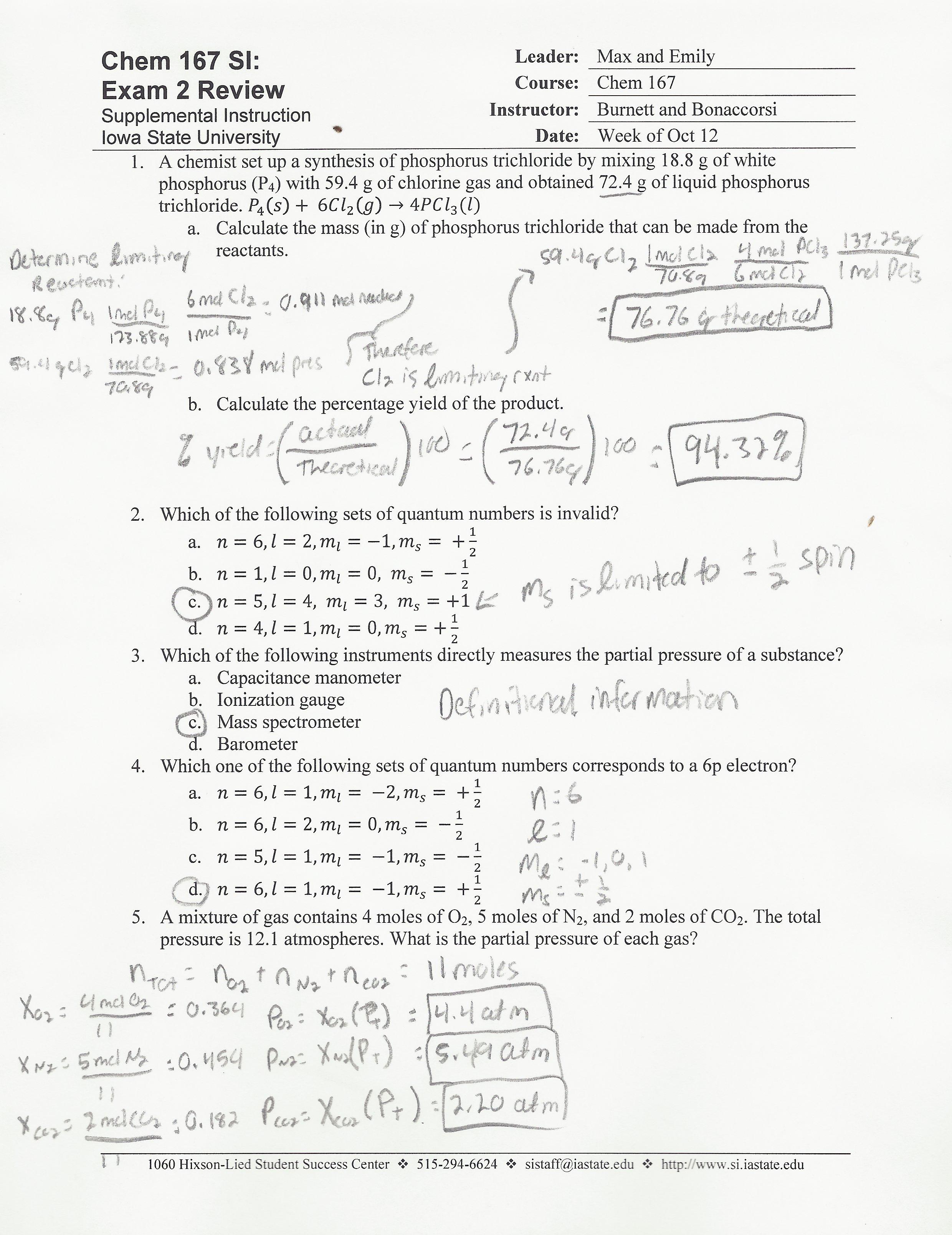 Electron Configuration Concert Worksheet