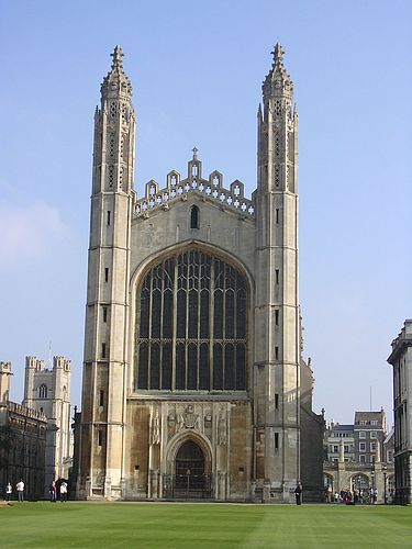 Kings College Chapel Winter Break English Gothic And