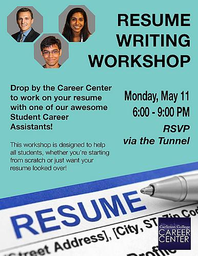 resume writing workshop career center carleton college