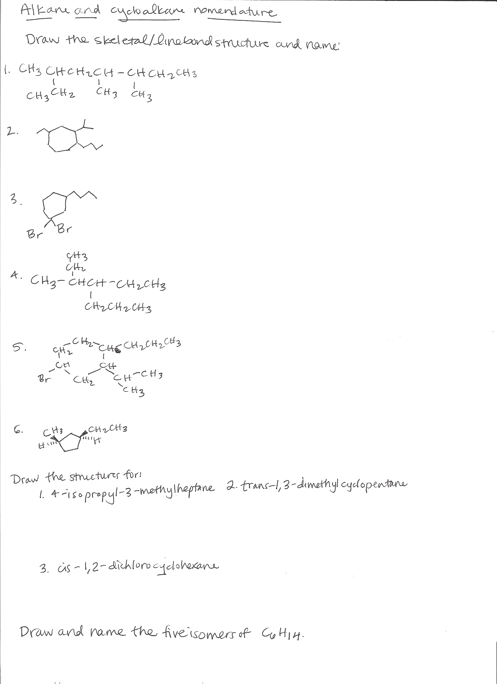 Iupac Nomenclature Of Organic Chemistry Alkanes Charts