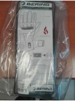 Bering Heated Motorcycle Gloves Packaging