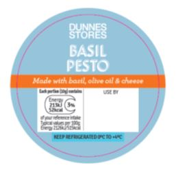 Dunnes Stores Basil Pesto