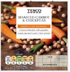 Tesco Roasted Carrot and Chickpeas Dip
