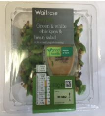 Waitrose Aromatic Green and White Chickpea and Bean Salad