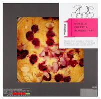 Morello cherry and almond tart