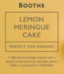 Booths Lemon Meringue Cake packaging
