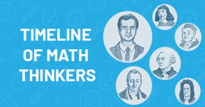 Timeline of math thinkers