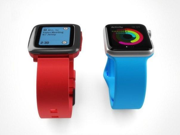 Сравнение Apple Watch и Pebble Time: дизайн