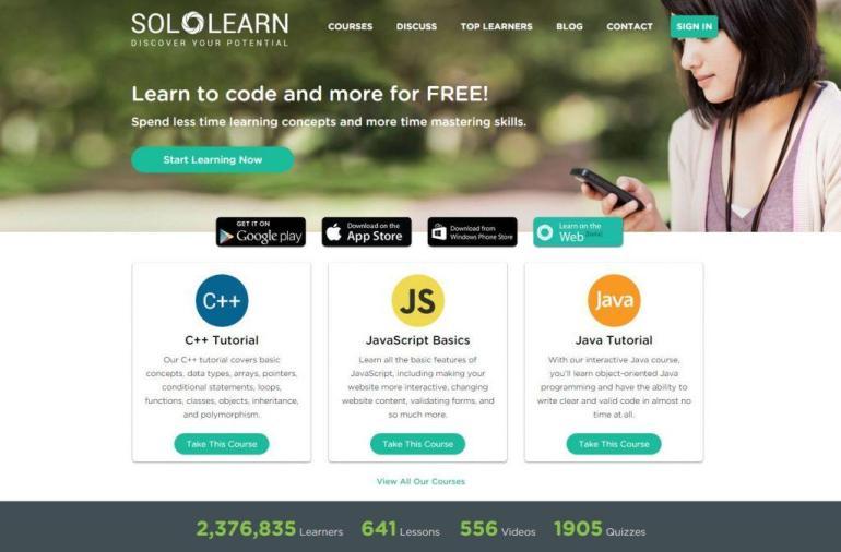Sololearn — мобильное приложение для изучения программирования