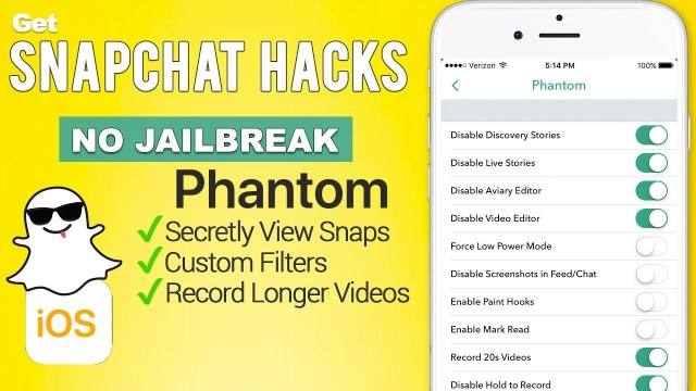 Phantom for Snapchat