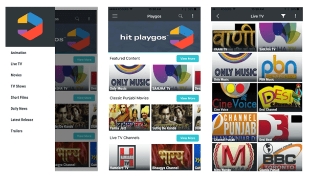 Playgos an app development companies Muvi app
