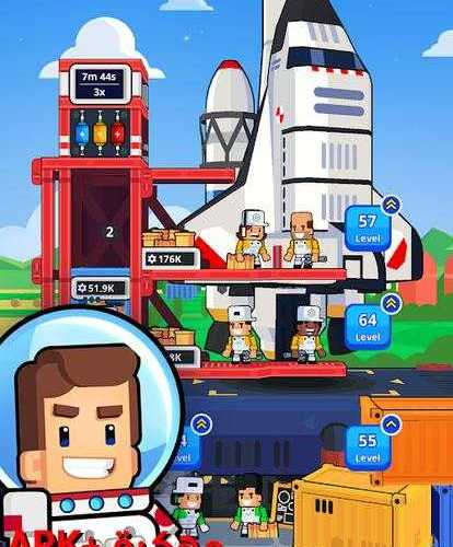 Rocket Star – Idle Space Factory مهكرة للاندرويد
