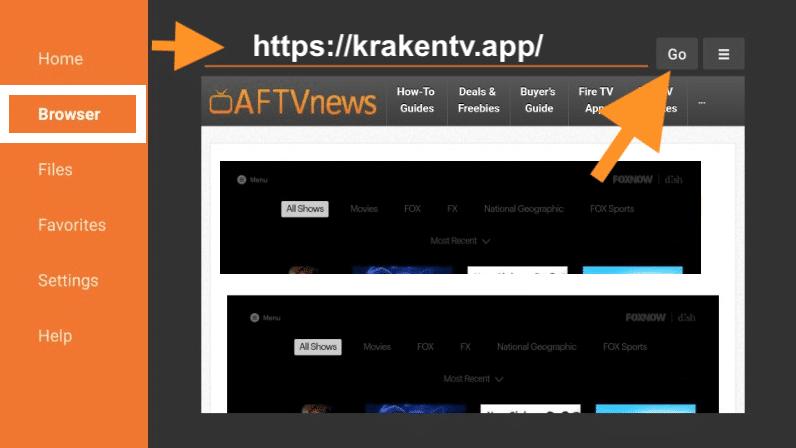 descargar kraken tv apk en firestick amazon tv