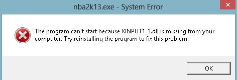 fix windows dll error