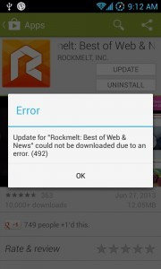 Fix: App could not be downloaded due to an error 492