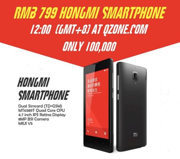 xiaomi hongmi 10000 sold