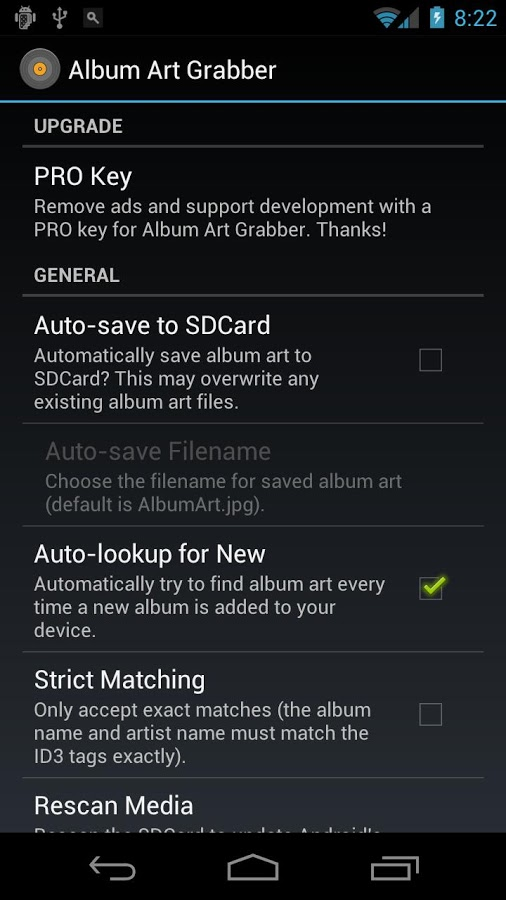 Missing album arts? Try Album Art Grabber for Android