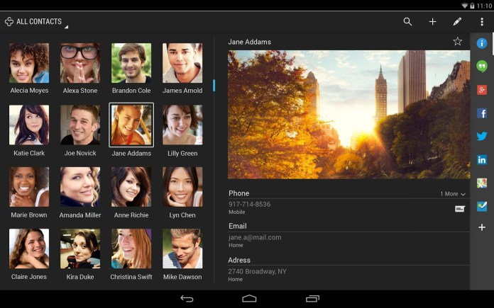 Bored with your contacts app? Try Contact+ for Android