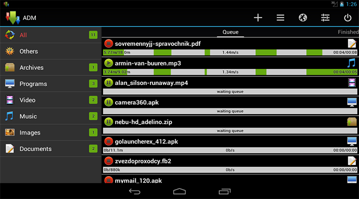 anfroid download manager