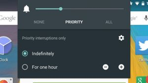 set up priority mode in Android