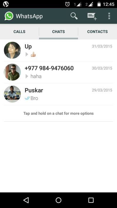 enable Voice calling feature in WhatsApp
