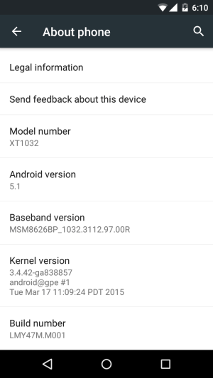 5.1 Lollipop OTA update rolling out for MOTO G GPE