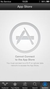 Can't connect to App Store