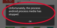 Fix Unfortunately, the process android.process.media has stopped Error