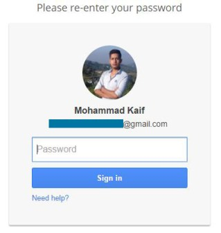 Re- enter password