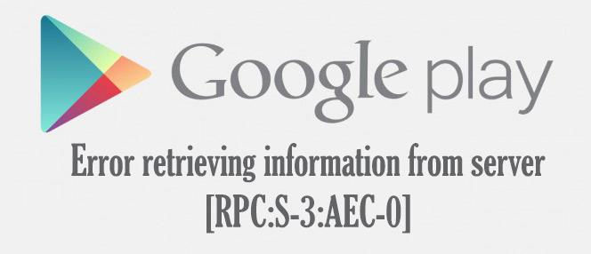 Error retrieving information from server [RPC:S-3:AEC-0]