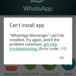 Fix Error code: -11 in Google Play Store