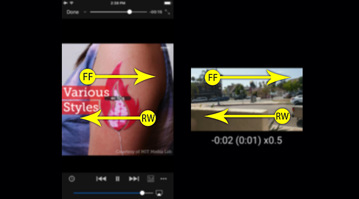 How to use gestures controlled playback on VLC