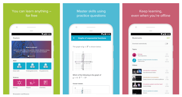 Educational Apps - Khan Academy