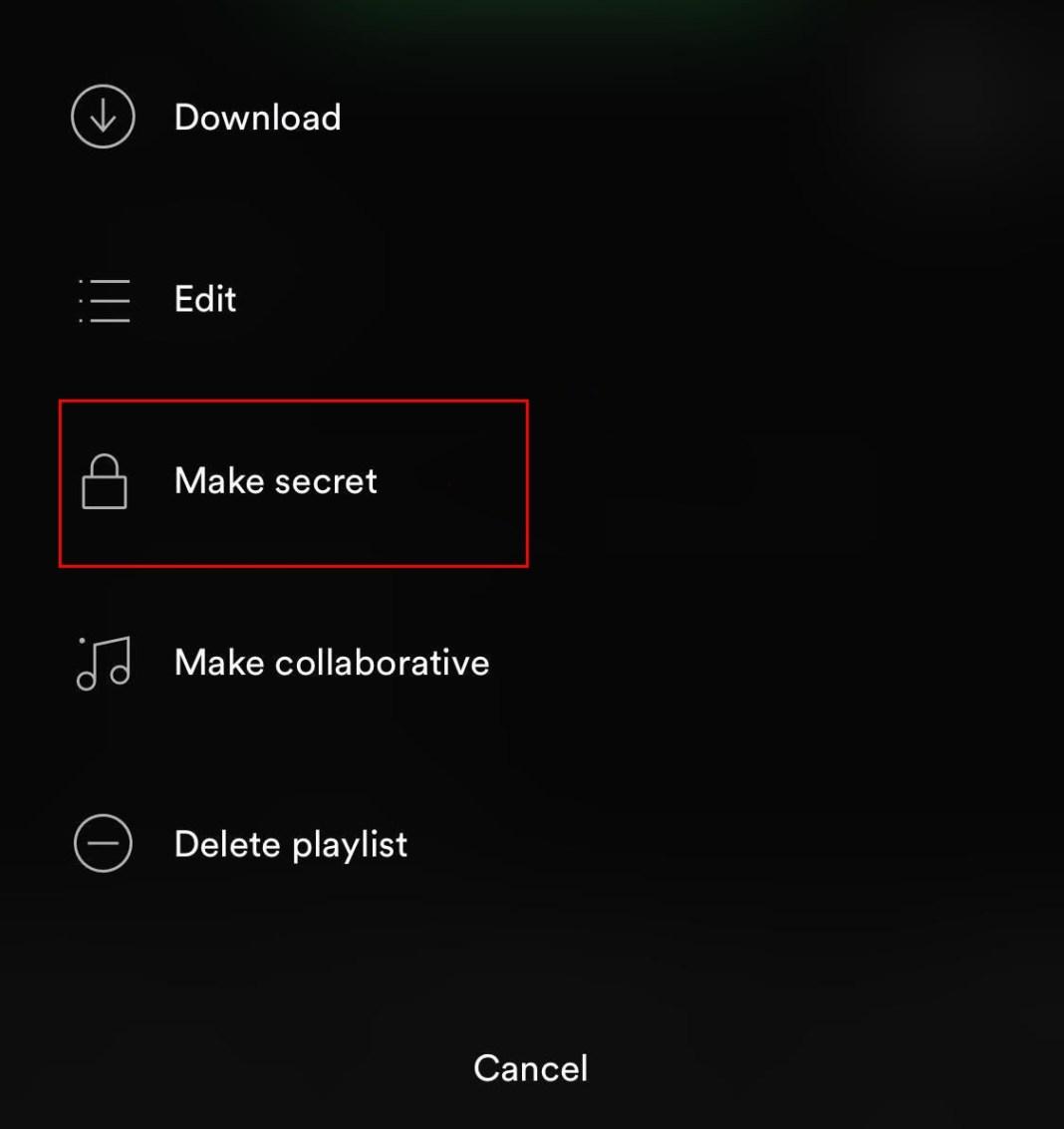Cachez votre activité sur Spotify