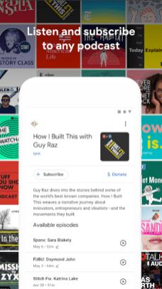 Google Podcast Screenshot One
