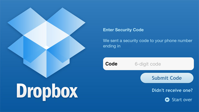How to set up two-factor authentication in Dropbox?