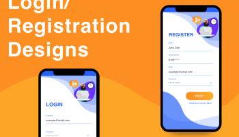 Modern android studio Login / Registration design for free