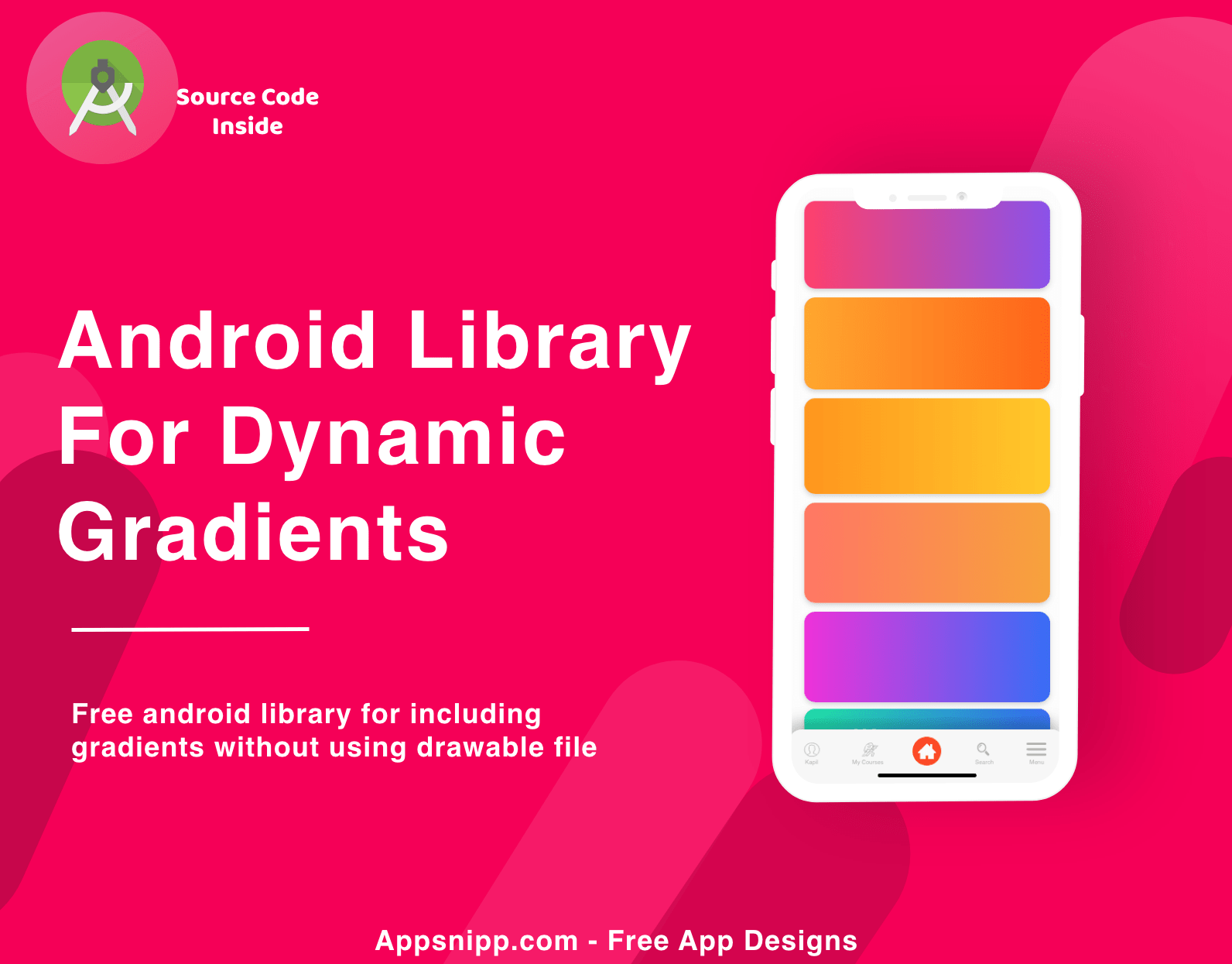 Gradient Layout for dynamic gradients in android (without drawable) – Library