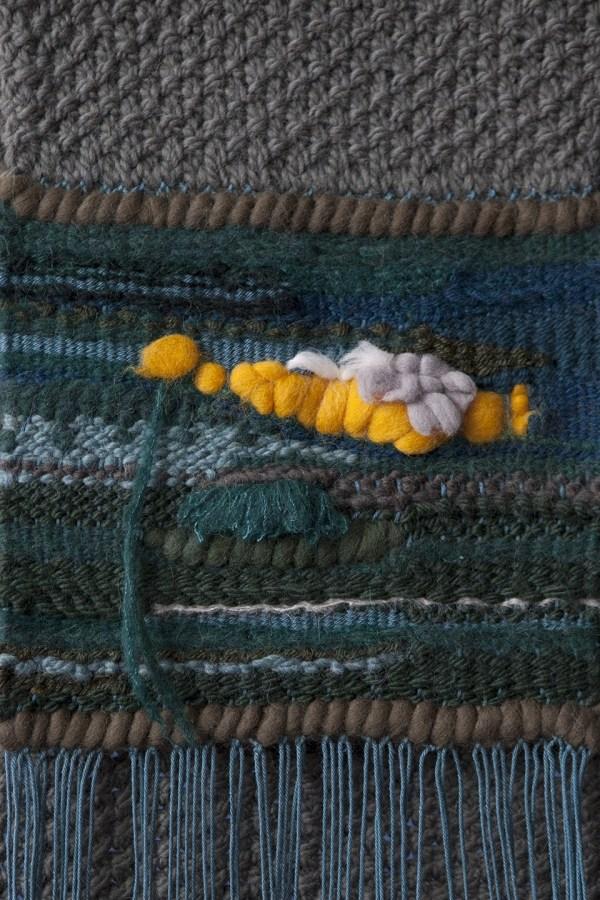 Bufanda tapiz verde piedra 'Naturgemälde'