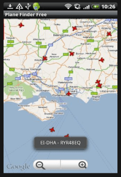 plane finder android app