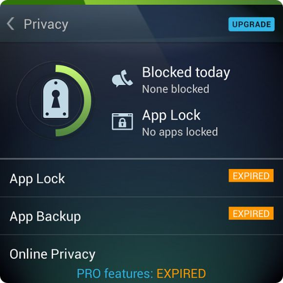 app lock blackberry app