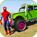 Superheroes Buggy Car Stunts 3D For PC